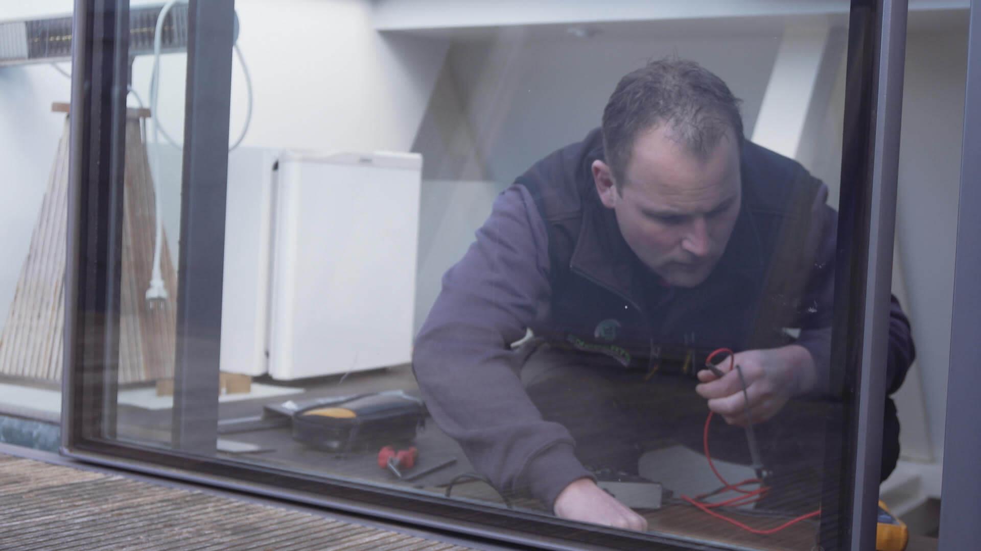 Installation durch das Montageteam glazing vision