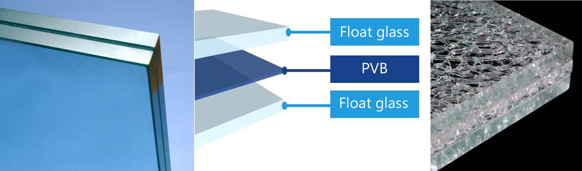 Die Struktur von Verbundglas wird durch die Dicke der Glasscheiben und der Zwischenfolie bestimmt