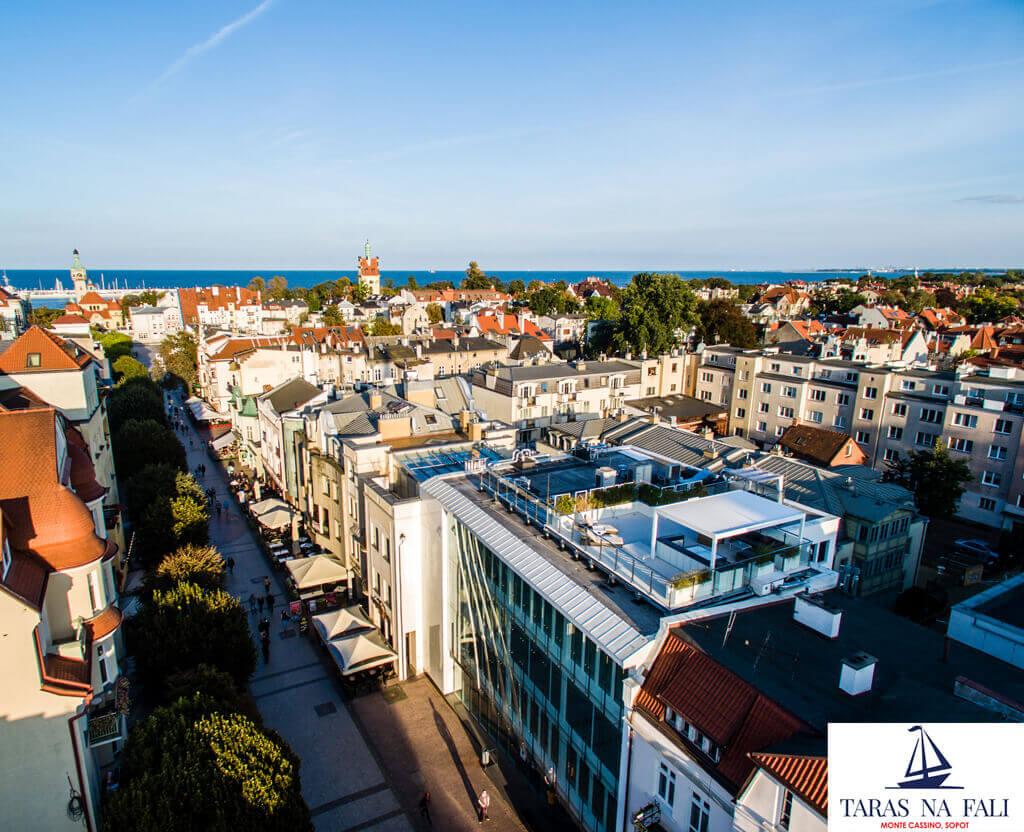 Dachterrasse mit Blick auf die Ostsee - Schiebebox