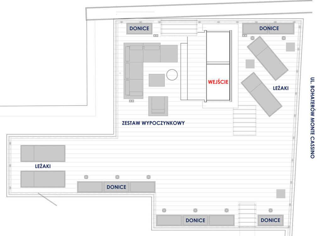Einteilung Dachterrasse mit Schiebebox