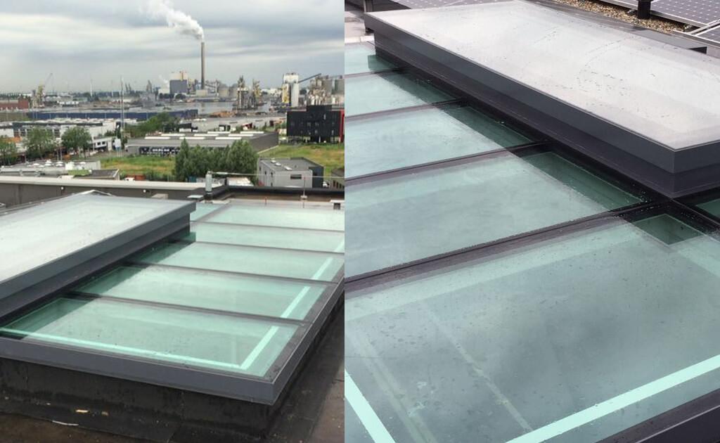Eine Alternative wäre, nicht die gesamte Decke aus Glas herzustellen, sondern einen großen Teil.
