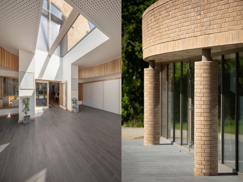 Rahmenloses modulares Dachfenster in der Kirchenerweiterung