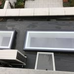 Fixed Flushglaze dachfenster von außen betrachtet