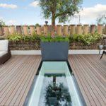 Walkon glass roof terrace
